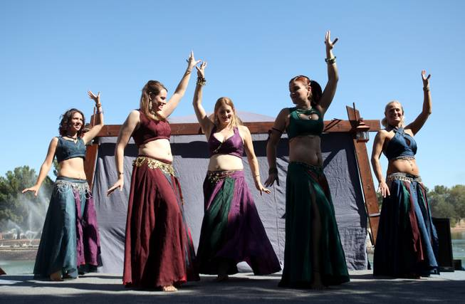Belly dancers perform at the annual Age of Chivalry Renaissance ...