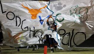 The Legacy Longhorns take the field Friday to face Palo Verde Panthers.  Legacy came out on top 7-6.
