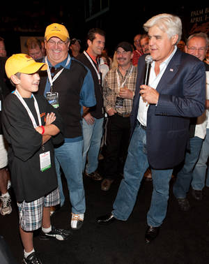 Jay Leno at the 2nd Annual Barrett-Jackson Auto Auction at Mandalay Bay.