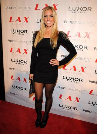 Kristin Cavallari on the red carpet outside LAX in the Luxor.