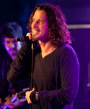 Chris Cornell performs at the grand opening concert for the Hard Rock Cafe on the Las Vegas Strip.