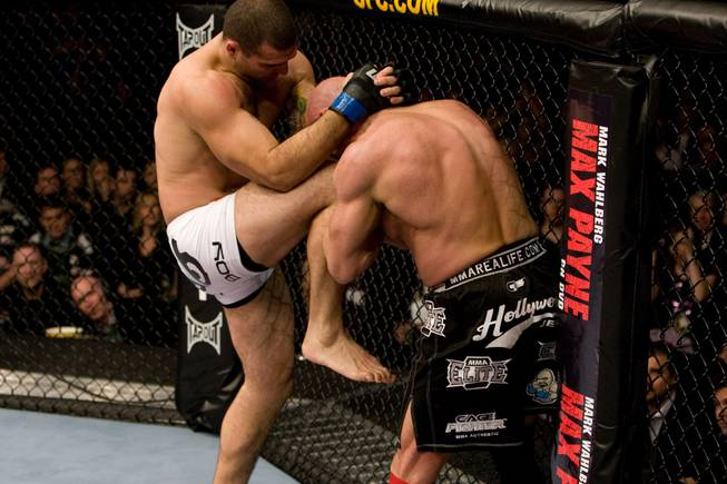 "Mauricio ""Shogun"" Rua, left, knees Mark Coleman during their match at UFC 93 on Jan. 17, 2009 in Dublin, Ireland. Rua won by third-round TKO."