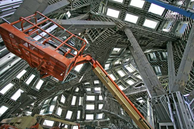 Impressive architecture: A view inside the Cleveland Clinic Lou Ruvo Center for Brain Health on Oct. 14. Former Mexican President Vicente Fox toured the degenerative brain disease research and treatment facility with its curved steel enclosure. Fox plans to implement some of the center's concepts at his presidential library in Mexico.