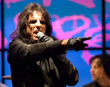 Alice Cooper at John Varvatos Bowery NYC in the Hard Rock Hotel.