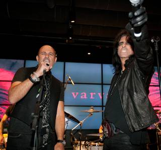 John Varvatos and Alice Cooper at John Varvatos Bowery NYC in the Hard Rock Hotel.
