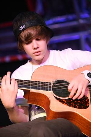 Justin Bieber performs at the Hard Rock Cafe Las Vegas Strip on Oct. 24, 2009.