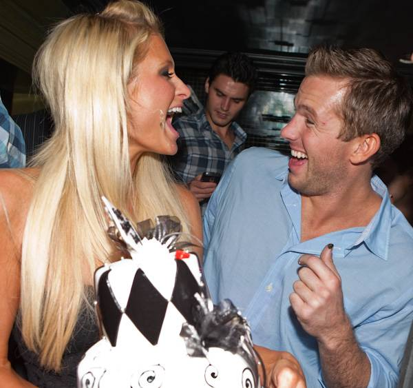 Paris Hilton and Doug Reinhardt at his 24th birthday celebration ...