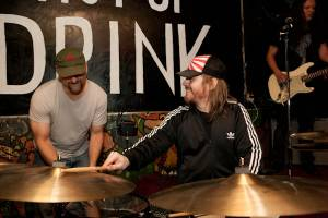 Tim Alexander, of Puscifer, with Uberschall Drummer Todd Waetzig at the Double Down Saloon, Oct. 25, 2009.