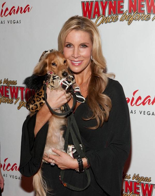 Alicia Jacobs and Sparkle at the grand opening of Wayne Newton's <em>Once Before I Go</em> at the Tropicana on Oct. 28, 2009.