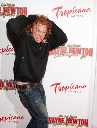 Carrot Top at the grand opening of Wayne Newton's Once Before I Go at the Tropicana on Oct. 28, 2009.