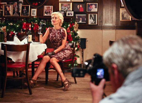 Holly Madison on the set of her photo shoot with ...