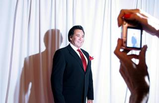 Wayne Newton appears on the red carpet during the grand opening night of Wayne Newton's