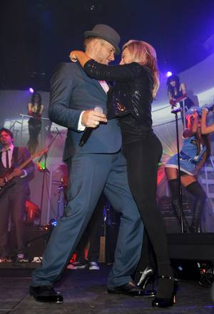 Matt Goss and Taylor Dane perform in <em>Matt Goss Live From Las Vegas</em> at the Gossy Lounge in the Palms on Oct. 30, 2009.