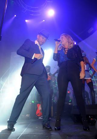 Matt Goss and Taylor Dayne perform during Matt Goss Live From Las Vegas at the Palms on Oct. 30, 2009.