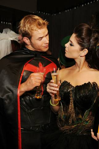 Twilight stars Kellan Lutz and Ashley Greene host the Halloween party at Tao in The Venetian on Oct. 31, 2009.
