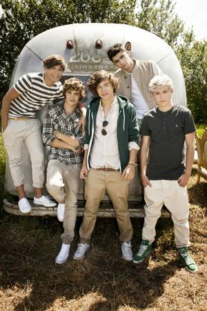 Louis Tomlinson, Liam Payne, Harry Styles, Zayn Malik and Niall Horan of One Direction.