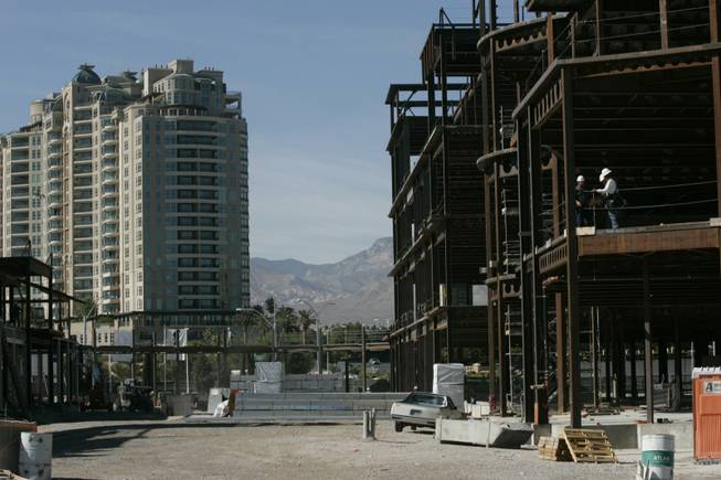 Tivoli Village at Queensridge, above, will become the most prominent construction project in Las Vegas once CityCenter is finished.