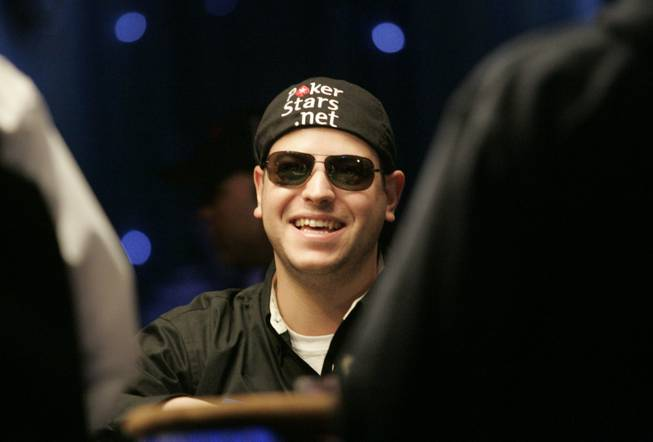 Eric Buchman is introduced before the final table of the 2009 World Series of Poker Saturday, Nov. 7, 2009, at the Rio in Las Vegas.
