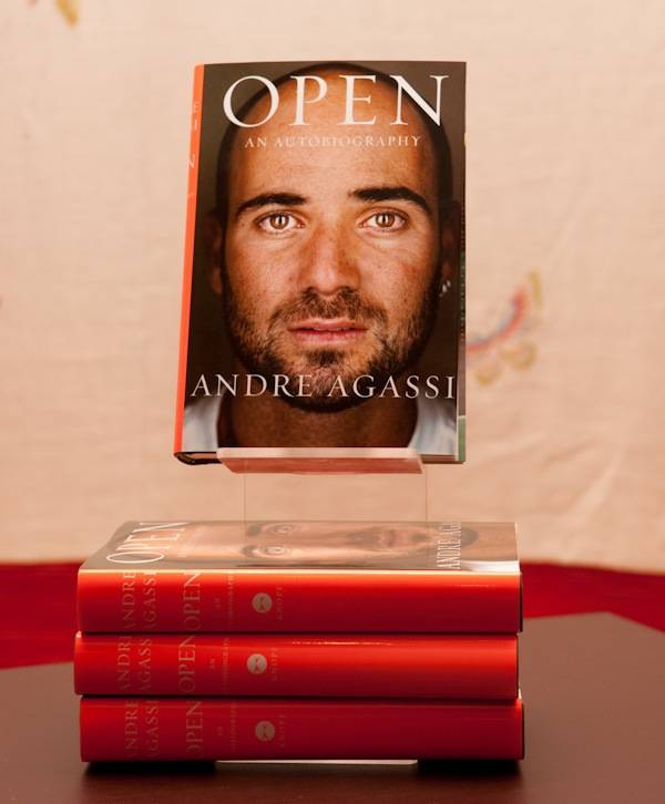 Andre Agassi's <em>Open: An Autobiography</em>.
