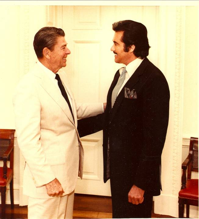 Ronald Reagan and Wayne Newton.