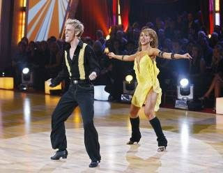 Aaron Carter and Karina Smirnoff on Dancing With the Stars.
