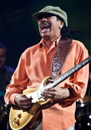 Carlos Santana performs during his show <em>Supernatural Santana</em> at The Joint in the Hard Rock Hotel, Nov. 11, 2009.