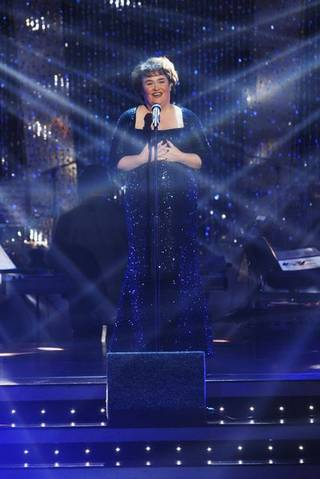 Susan Boyle performs on ABC's Dancing With the Stars.