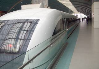The Shanghai Transrapid maglev train at a station in Shanghai, Nov. 9, 2009.