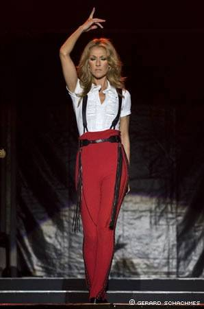Celine Dion's 2009 Taking Chances World Tour.