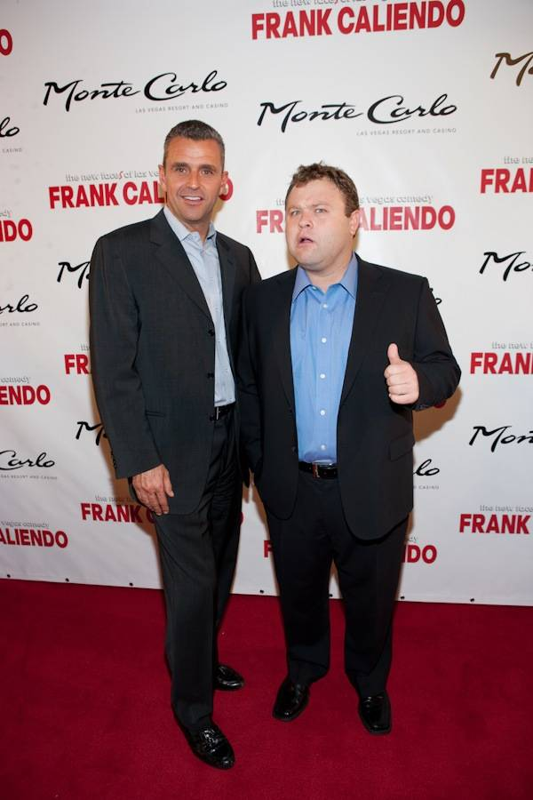 Monte Carlo President Anton Nikodemus and Frank Caliendo at Frank's grand opening at the Monte Carlo on Nov. 13, 2009.
