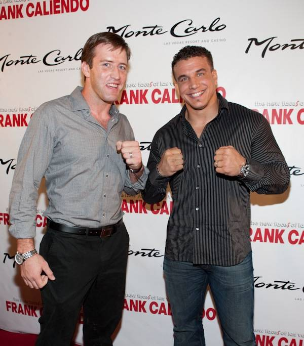 UFC fighters Stephan Bonnar and Frank Mir at Frank Caliendo's grand opening at the Monte Carlo on Nov. 13, 2009.