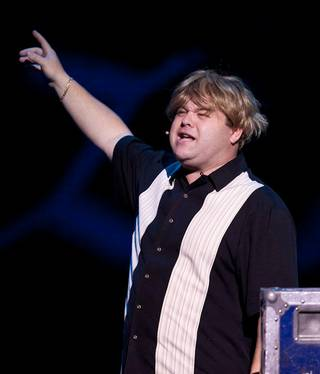 Frank Caliendo onstage during his grand opening at the Monte Carlo on Nov. 13, 2009.