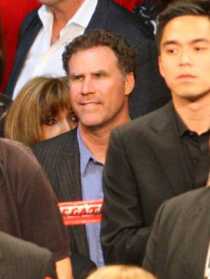 Will Ferrell at the Manny Pacquiao and Miguel Cotto fight at MGM Grand Garden Arena on Nov. 14, 2009.