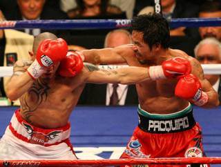 The Manny Pacquiao and Miguel Cotto bout at MGM Grand Garden Arena on Nov. 14, 2009.