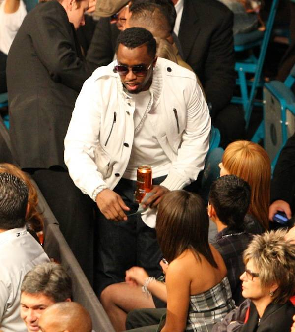 "Sean ""P. Diddy"" Combs at the Manny Pacquiao and Miguel Cotto fight at MGM Grand Garden Arena on Nov. 14, 2009."