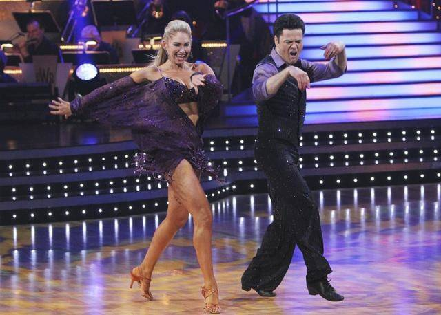 Kym Johnson and Donny Osmond on ABC's <em>Dancing With the Stars</em>.