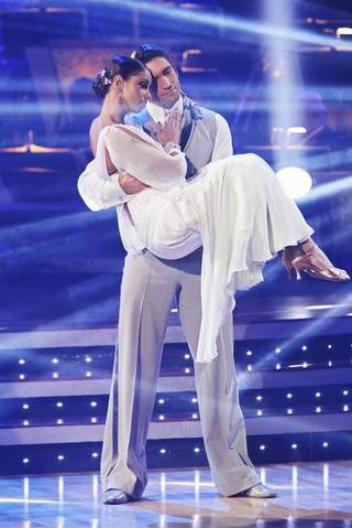 Mya and Dmitry Chaplin on ABC's Dancing With the Stars.