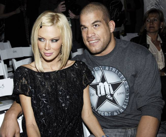 Former adult film actress Jenna Jameson and Tito Ortiz at the 2 B Free fashion show at Boulevard3 night club in Los Angeles on Monday, March 19, 2007.