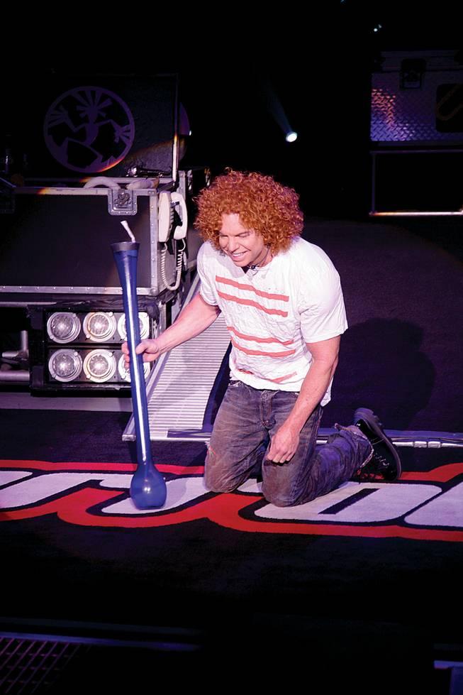 Scott Thompson, aka Carrot Top, during a recent performance.
