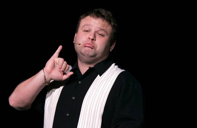 Impressionist Frank Caliendo performs at the Monte Carlo in Las Vegas on Tuesday, Nov. 17, 2009.