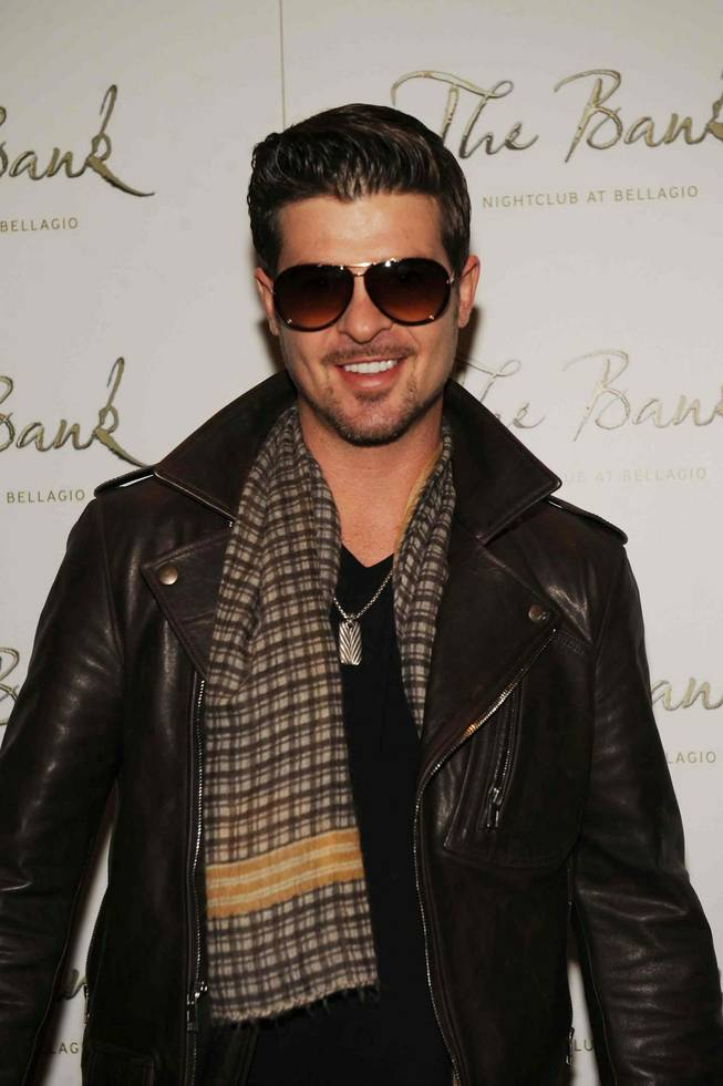 Robin Thicke at the Bank in the Bellagio on Nov. 21, 2009.