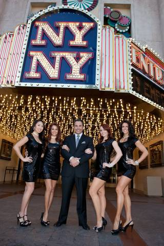 Vinny Blue (Tom Cassell) wins the title of resort spokesman at New York-New York on Nov. 23, 2009.