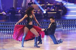 Mya and Dmitry Chaplin on Dancing With the Stars.