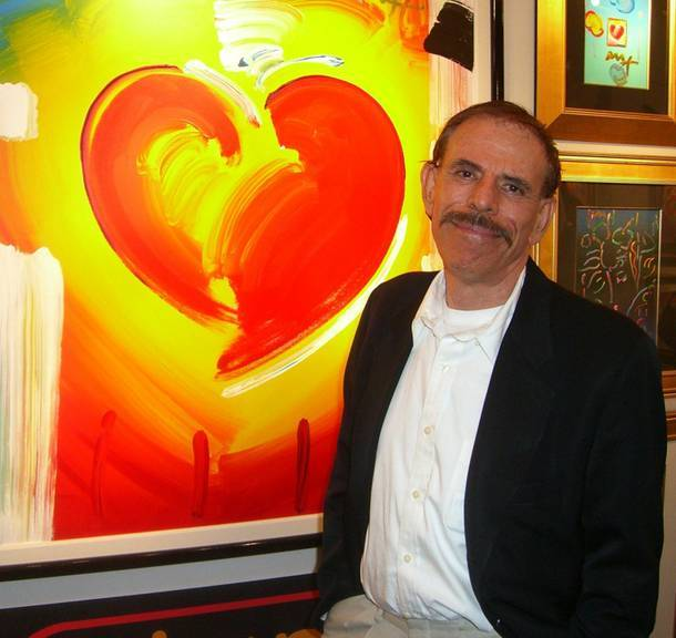 Peter Max at The Art of Peter Max gallery in January.