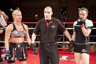 Latasha Marzolla's Thanksgiving holiday weekend included a fight against Kate McGray at Tuff-N-Uff in The Orleans.