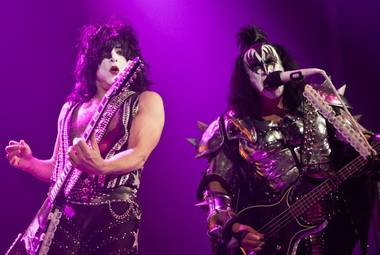 "Our contributing photographer Erik Kabik, who shot KISS in concert last night, told VegasDeLuxe.com: ""I first saw KISS in 1977 at The Capital Center in Landover, Md., ... """