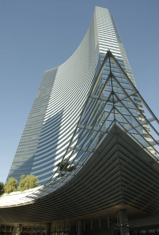 A view of the Vdara during its opening on Tuesday, Dec. 1, 2009. The 57-story, 1,495-suite luxury property is the first to open in MGM Mirage's $8.5 billion CityCenter project.
