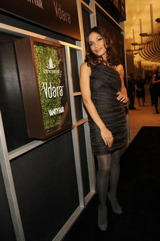 Rosario Dawson at the Vanity Fair party for the grand opening of Vdara Hotel & Spa at CityCenter on Dec. 1, 2009.