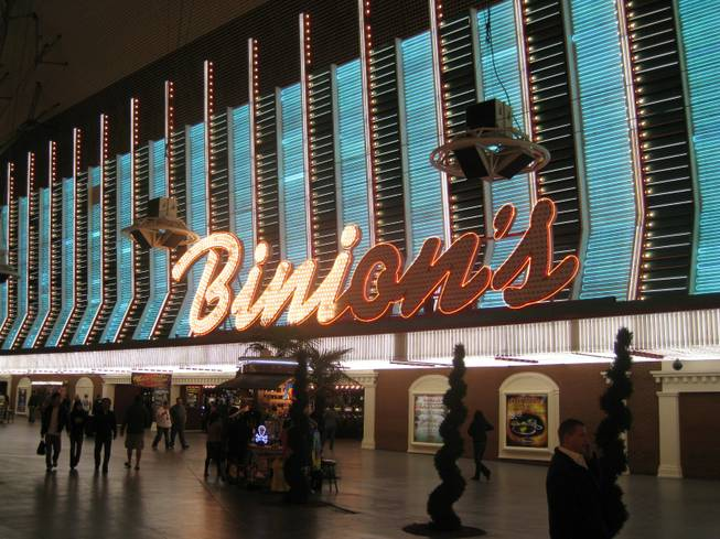 The Binion's sign facing Fremont Street.