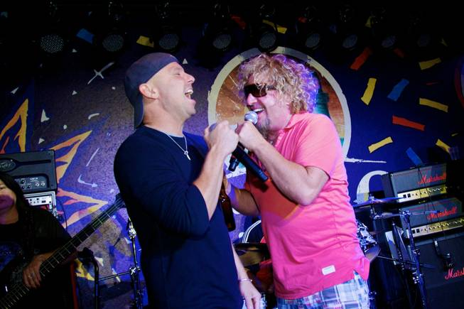 Kenny Chesney and Sammy Hagar duet at Sammy's grand opening ...